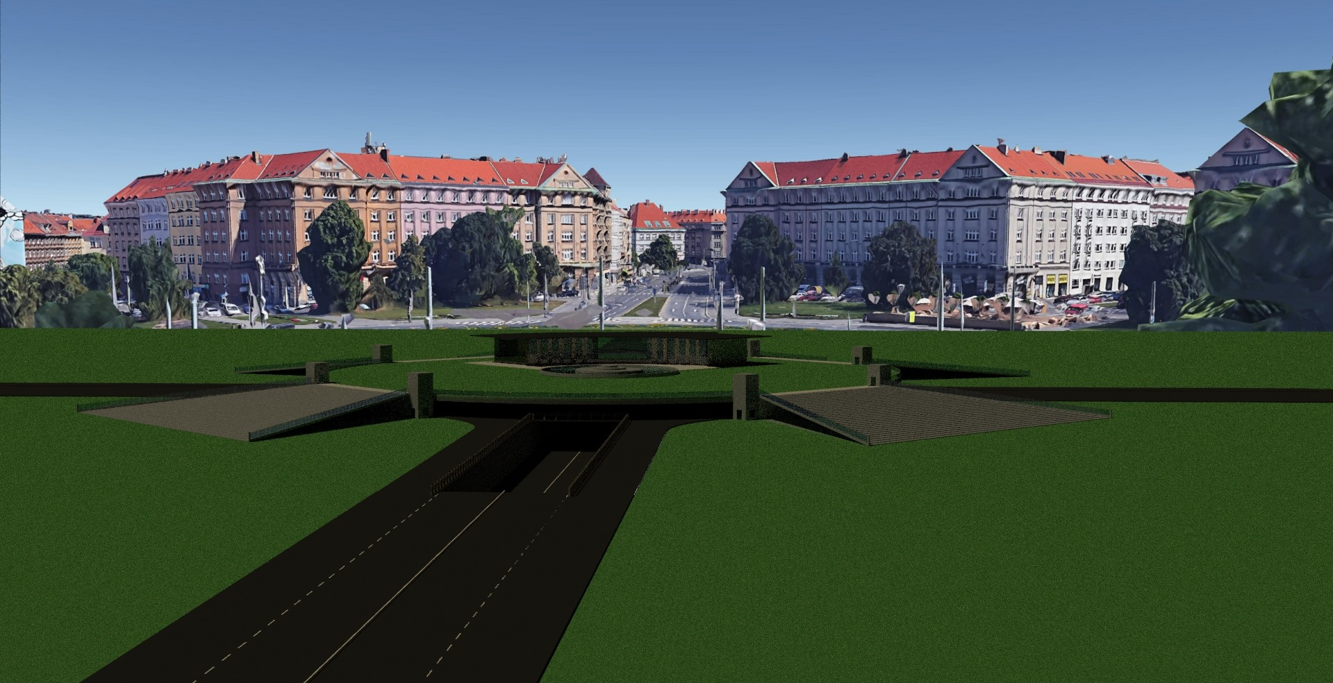 VDC BIM 3D-model. Concept evaluations, visualization, new solution for improved trafic flow.